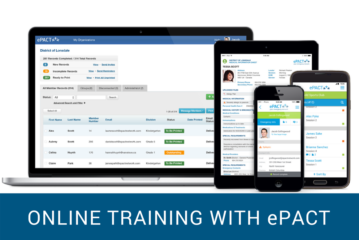 Online Training Sessions with ePACT