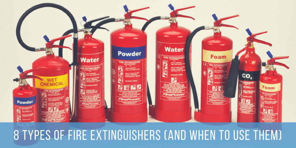 8 Types of Fire Extinguisher (And When to Use Them)
