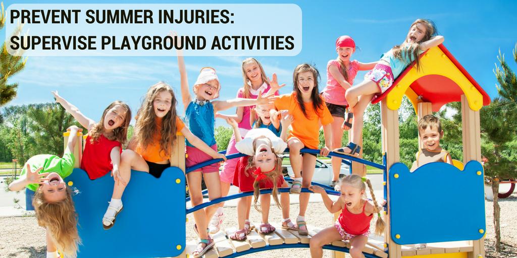 Prevent Summer Injuries: Supervise Playground Activities