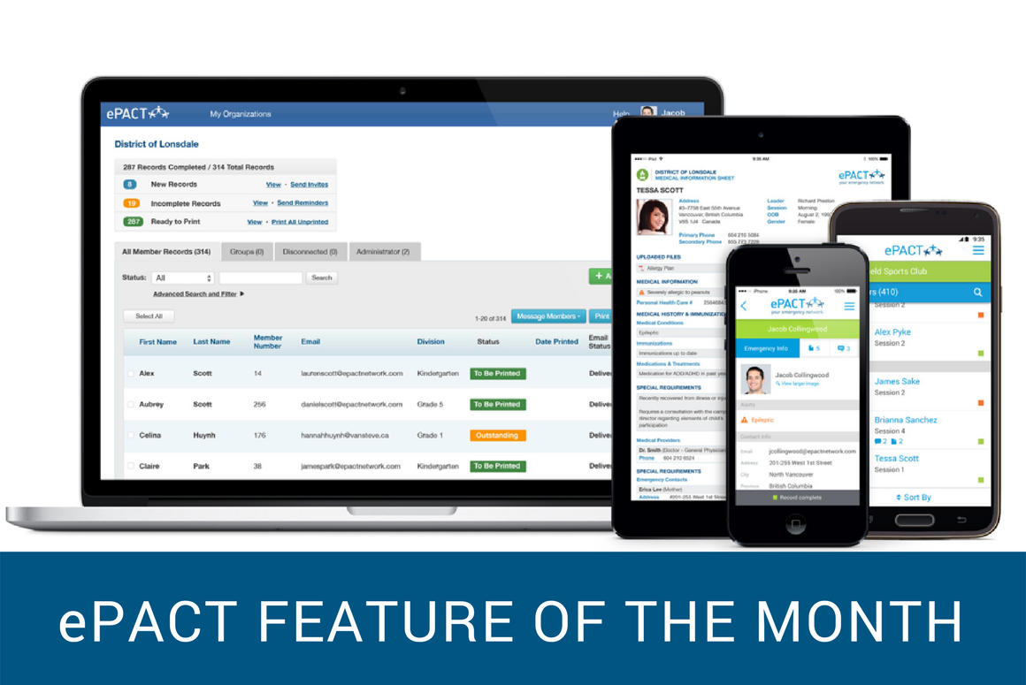 Feature of the Month: Allergy and Dietary Modules
