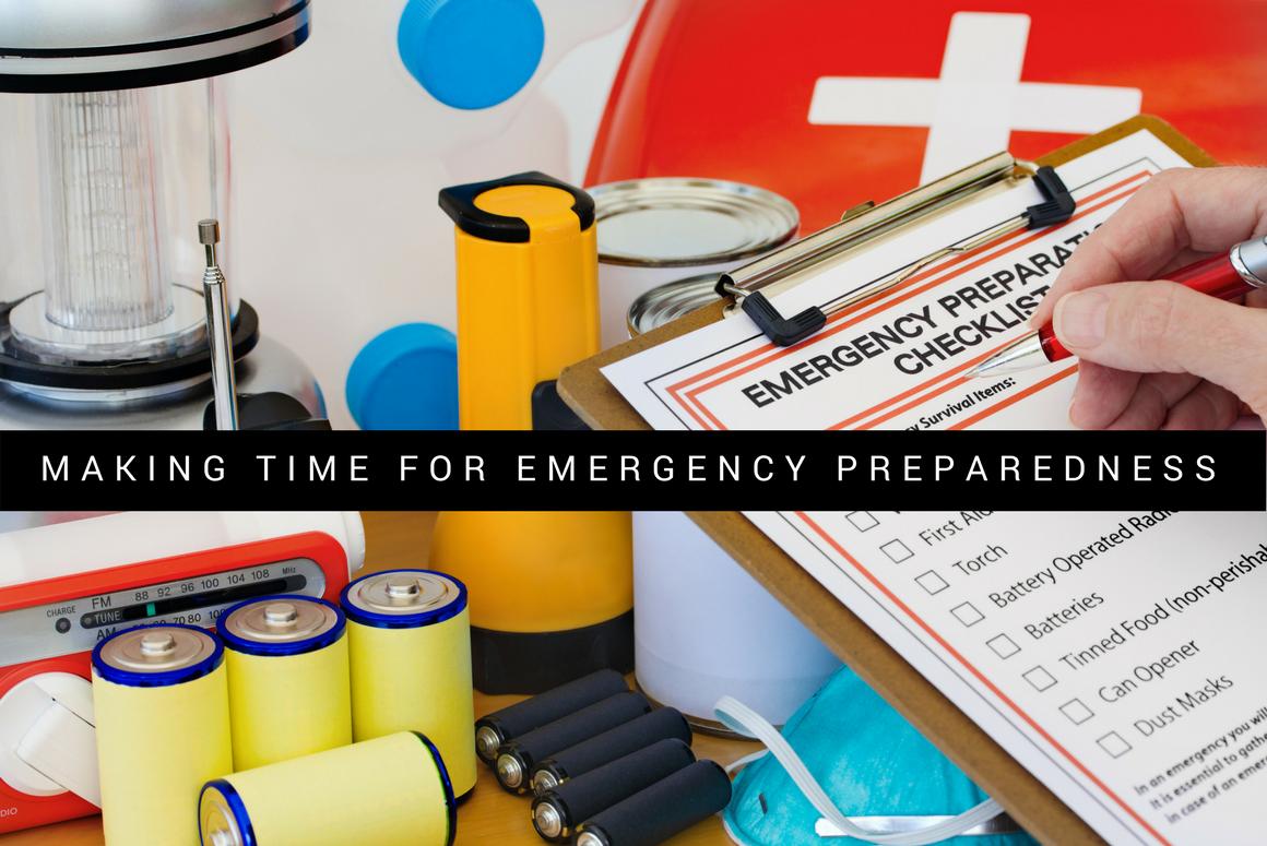 Making Time for Emergency Preparedness