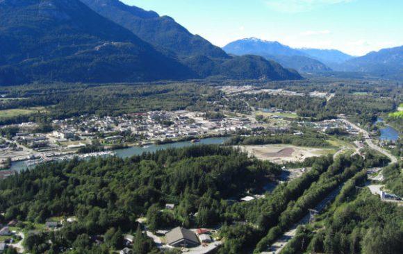 Aerial view of Squamish