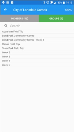 ePACT Admin App Records Overview Groups