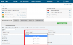 New in ePACT - Advanced Search and Filter
