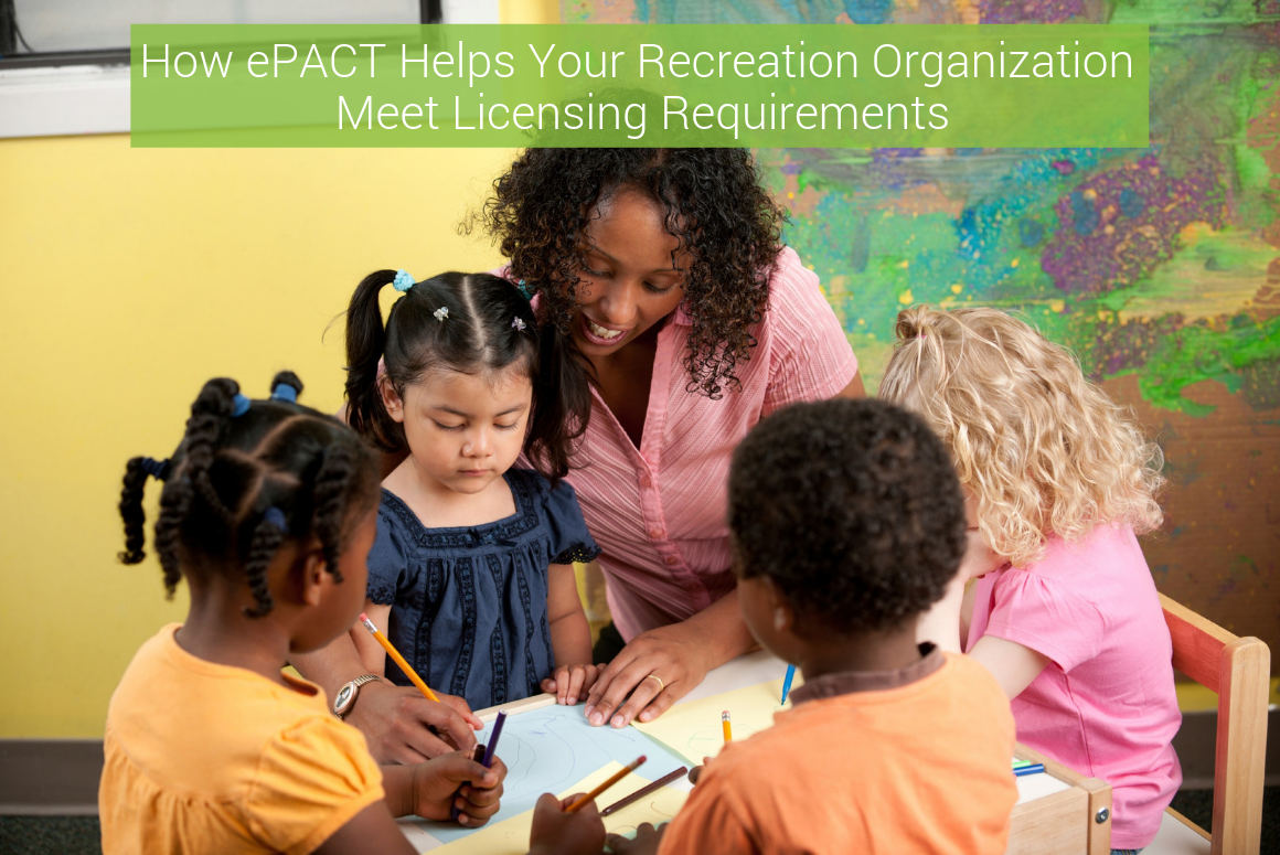 How ePACT Helps Your Recreation Organization Meet Licensing Requirements