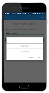 Check In - Choose Contact
