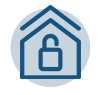 Icon to represent safety and security
